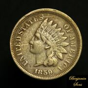 1859 Indian Head Cent 1c Penny, Free Shipping 060321-24