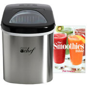 Deco Chef Stainless Steel Electric Ice Maker W/ The Smoothies Bible Recipe Book