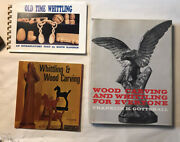 Wood Carving Hc Vintage Book -wood Carving And Whittling And Two Other Books