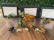 Tin Toys Germany German 7 Tucher And Walther Windup Dinosaur Family Video New
