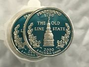 2000-s Maryland Statehood Silver Quarter Dcam Proof Roll Of 40 Coins
