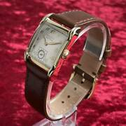Gruen Veri Thin 10k Gold Filled Manual Square Watch Used Antique 1940s Overhaul