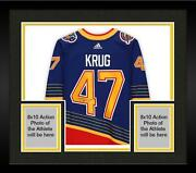 Frmd Torey Krug St. Louis Blues Signed Blue 90and039s Retro Authentic Jersey - Le 21