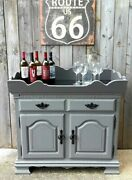Vintage Dry Sink Upcycled And Refinished Primitive Farmhouse Grey