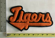 Vintage Letterman Varsity Jacket Patch Embroidered Chenille Wool Tiger Tigers