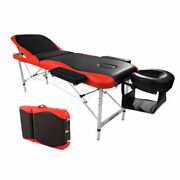 Portable Fold Massage Table Facial Spa Bed Tattoo W/free Carry Case Red And Black