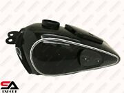 Bmw R71 Black Painted Gas Fuel Petrol Tank With Knee Pad Plates And Cap