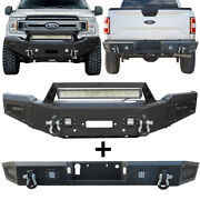 Vijay Front And Rear Bumper W/sensor Hole And Led Light Fit 2018-2020 Ford F150