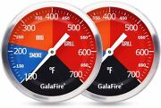 2 Pack Bbq Thermometer Gauge Charcoal Grill Pit 3 316 Inch Large Dial Smoker