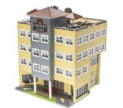 ✅menards County Hotel City Building Accessory O Gauge Scale Train Layout