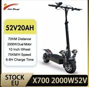 2000w Dual Motor Electric Scooter Adults 75km/h 52v 20ah
