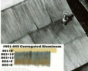 Campbell Scale Models 803 Ho Corrugated Aluminum Sheets 12' 3.7m 10 Packs Of