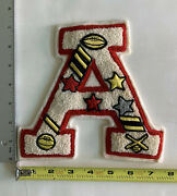 Vintage Letterman Varsity Jacket Patch Embroidered Chenille Wool A Football
