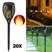 20x 96 Led Solar Power Path Torch Lights Dancing Flame Lighting Flickering Lamp