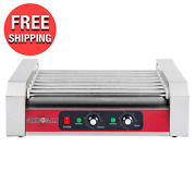 Commercial Electric Griller 18 Hot Dog Roller Grill W/ 7 Rollers Hotdog Grilling
