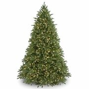 And039feel Realand039 Pre-lit Artificial Christmas Tree   Includes Pre-strung White 9 Ft