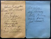 1936-37 Signed Nhl Hockey 16 Stanley Cup Champion Detroit Red Wings Autographed