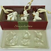 Snowbabies Christmas Trimmings Ornaments Set Of 3 Dept 56 69327 Retired With Box