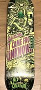 New Creature Wilkins Wicked Tales From Unknown Alien 8.8 Deck Skateboard Concave