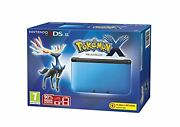 Nintendo Handheld Console 3ds Xl Blue And Black With Pokemon X Portable System