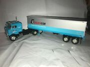 First Gear 1953 Kenworth Bull Nose 35' Truck And Trailer Tc. Transcon Mib 1/34