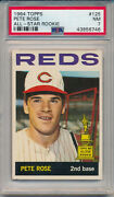 1964 Topps 125 Pete Rose, All-star Rookie - Psa 7 Nm Svsc - Centered