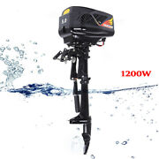 48v Electric Outboard Trolling Motor Inflatable Boat Engine Propeller Heavy Duty