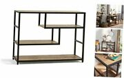 Console Table Sofa Table For Entryway With Storage Shelf Wood Wood And Black