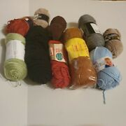 Large Lot Of Assorted Yarn New And Used