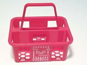 The Pop Shoppe Red Plastic Soda Bottle 6 Pack Carry Case