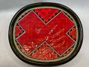 Clay Mesa 14 Inch Native American Red Decorative Wall Plate By Richard St. John