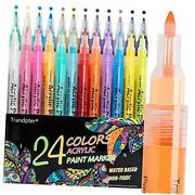 Paint Pens, Acrylic Paint Markers For Rock Painting, Glass, Metal, Wood,