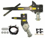1955-1957 Convertible Front And Rear Power Window Kit With Ftfg Switches For Door