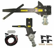 1955-1957 Chevy Front Door And Rear Power Window Kit With Ftfg Switches Console