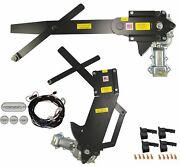 1955-1957 4dr Sedan Front And Rear Power Window Kit With Ftfg Switches For Door