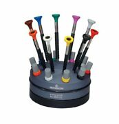 55-604 6899-s10 Rotating Stand With 10 Ergonomic Screwdrivers And 10 Tubes