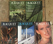 Racquet Magazine Lot Of 5 Complete Year 1989 Tennis Borg Ashe Wimbledon Couture