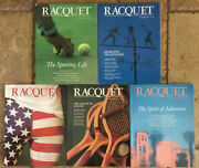 Racquet Magazine Lot Of 5 Complete Year 1988 Tennis Borg Ashe Wimbledon Couture