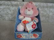 Vintage Kenner 1980and039s Care Bears Love-a-lot Bear Plush Animal With Tags In Box