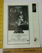Star Wars 1976 Pre-release Pressbook Poster And Flyer Catalog For Theaters Rare