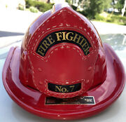 Vintage Lionstone 7 Fireman's Fire Fighter Hatwhiskey Decanter Extremely Rare