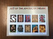 Us Stamp, Scott 3873, Art Of The American Indian, Pane Of 10