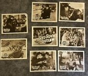 Red Rock Outlaws 1949 Original Vintage Western Film 8 Lobby Cards - Rare