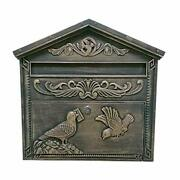 Me02 Wall Mounted Mailbox Rustic Bronze