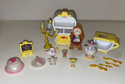 Disney Beauty And The Beast Lot Figurines And Accessories Cake Toppers Euc