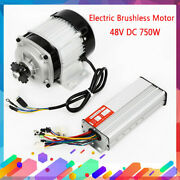 Electric Brushless Motor 48v 750w W/ Controller Diy Tricycle E-bike Bicycle New