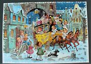 Vintage Advent Christmas Calendar Kruger West Germany 8 By 11 With Glitter
