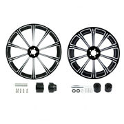 21 Front 18'' Rear Wheel Rim + Disc Hub Fit For Harley Road King Non Abs 08-21