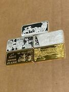 Five Different 1 Oz .999 Silver Bars America The Beautiful Very Nice