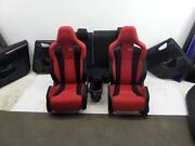 Honda Civic Type R Red Seats And Door Cards Hatch 60+ Pics Fk4 Fk7 17-20 Oem